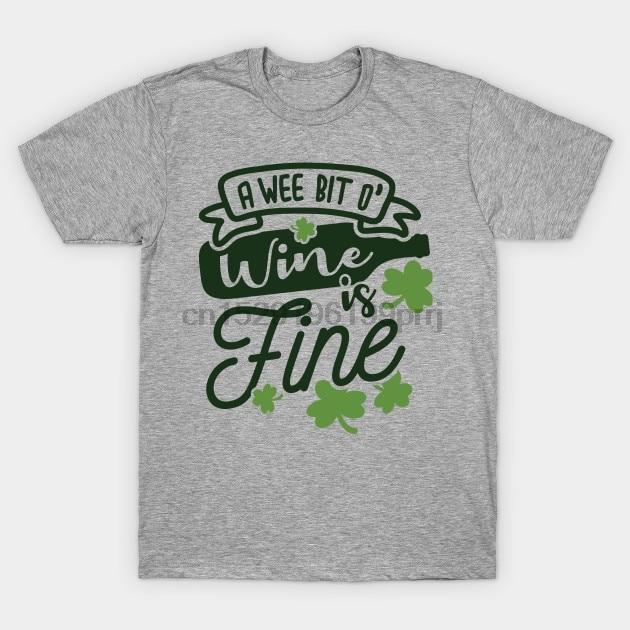 Camiseta para hombre, Día de San Patricio, un poco de vino, es un buen equipo irlandés bebiendo, camiseta de diseño para mujer