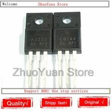 100 PCS/lot 2SA2222 2SC6144 TO-220F 50 paires 50pcs A2222 + 50pcs C6144 À-220
