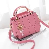 ladies bags 2021 new korean fashion small square bag shoulder diagonal handbag pu leather pure color crossbody female hand bag