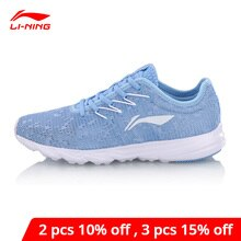 Li-ning mulher ez run running sapatos de pouco peso respirável forro li ning anti-deslizamento sapatos esportivos wearable tênis arbn026 xyp667