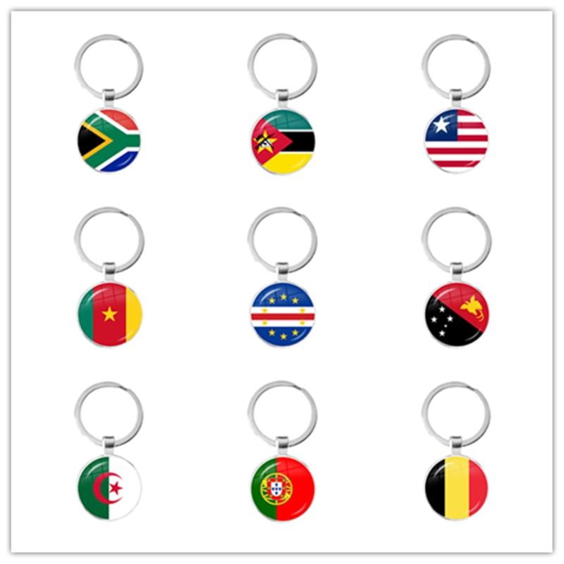 Llaveros de bandera nacional de Sudáfrica, Guinea, Argelia, Bélgica, Bélgica, Portugal, para...