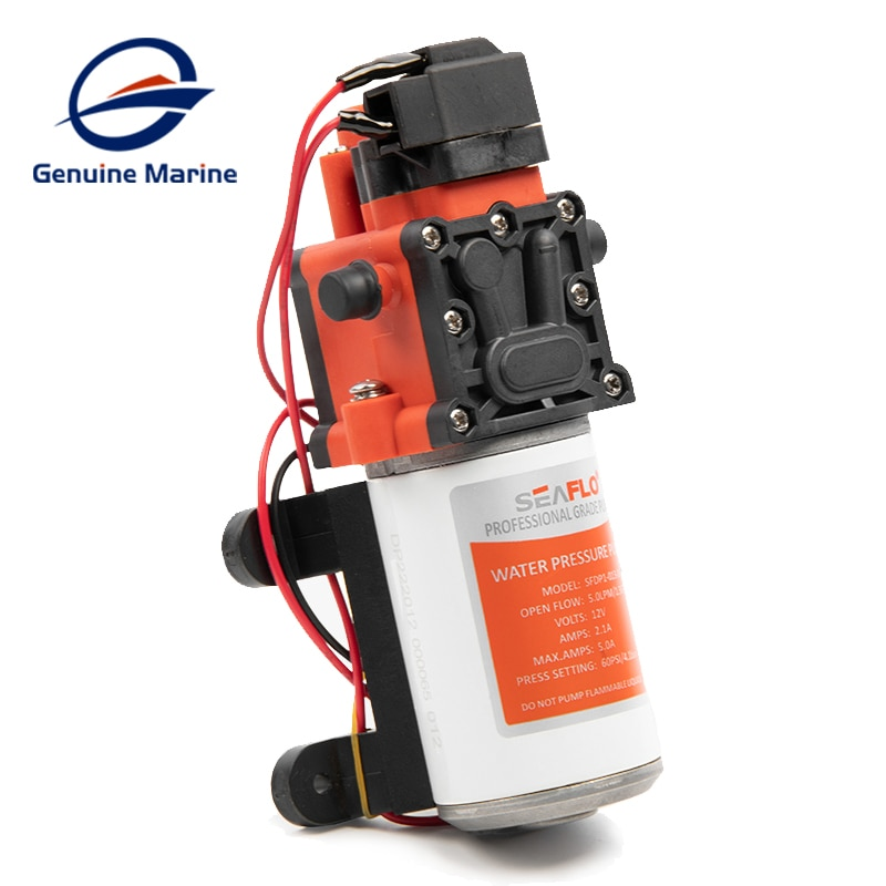 Seaflo Automatic Water Diaphragm Pump 1.3GPM 100PSI High Pressure Water Supply System 12V Self Priming Pump for RV Boat Yacht enlarge