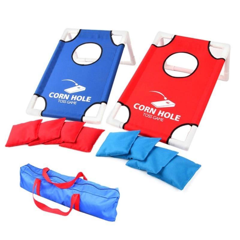 Sacos de arena Juego plegable niños padres tirar atento tablero de juego de interior al aire libre de Chipping lanzando jaulas esteras