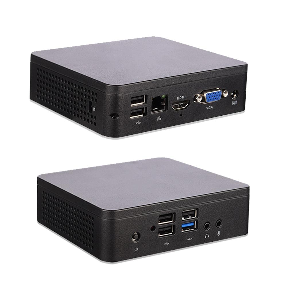 Intel Mini PC Z8350 CPU Processor 4GB DDR4 RAM 64GB ROM TV Box 1.44G+1.92G Pc gamer Mini PC Windows 10 Desktop Computer HD USB-C