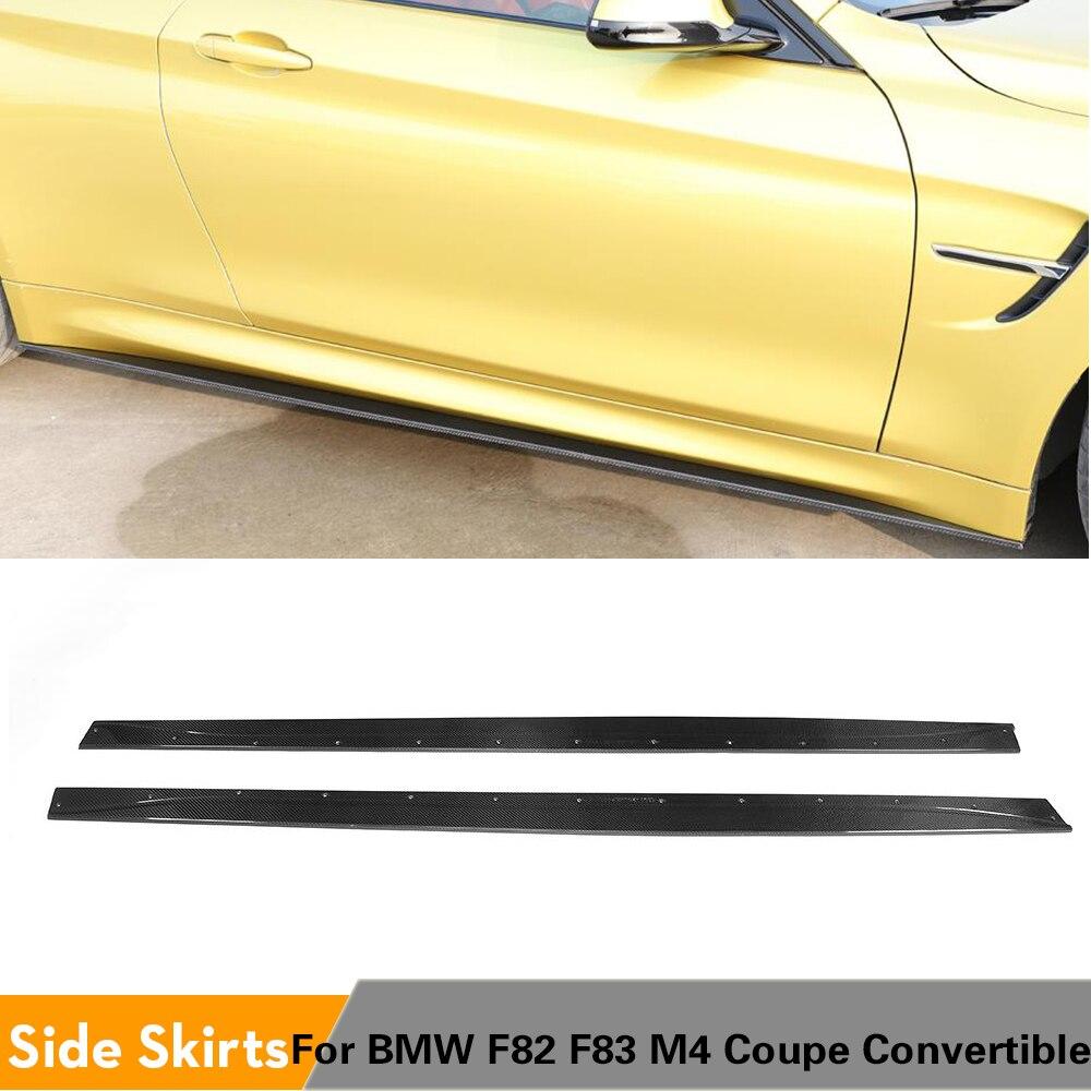 مآزر التنانير الجانبية القابلة للتحويل ، ألياف الكربون/FRP ، لسيارات BMW F82 F83 M4 Coupe Convertible 2014 - 2018