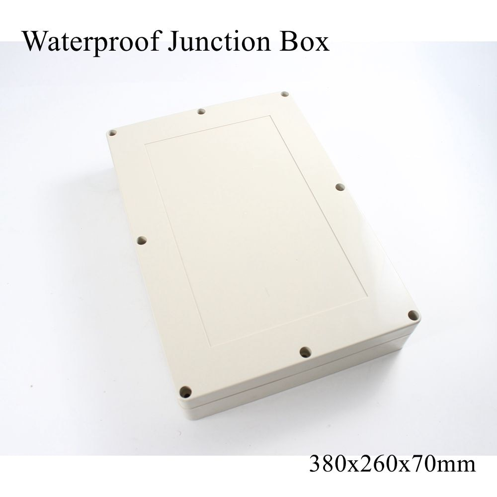 Водонепроницаемый пластиковый корпус 380x260x70 мм, наружный кабель, соединение, Электрический проект, чехол ABS IP65 380*260*70 мм