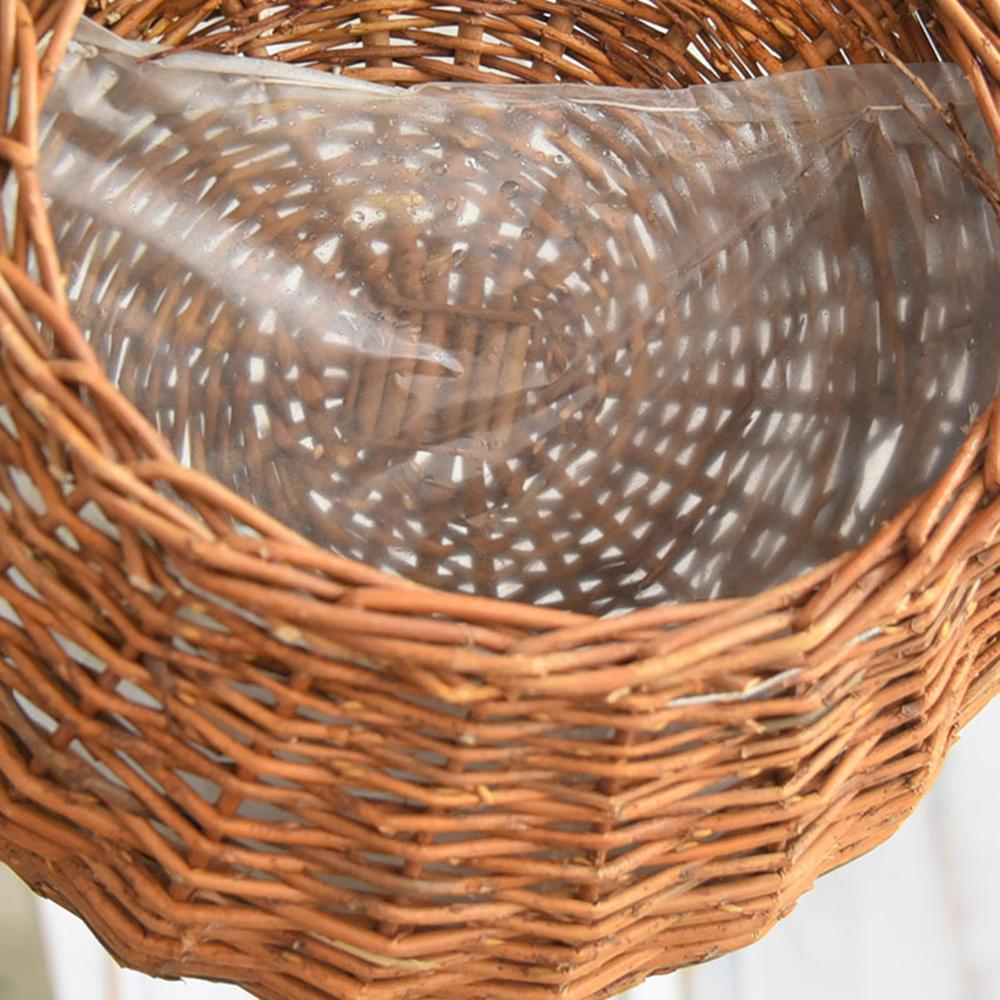 Плетений ротанговий квітковий кошик, - Садові товари - фото 3