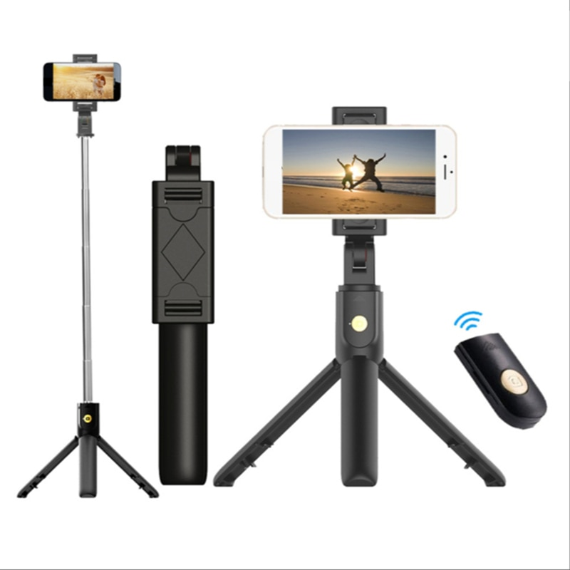 Wireless Bluetooth Selfie Stick, Foldable Mini Tripod, Expandable Monopod with Remote Control, Suitable for Android Ios Phones