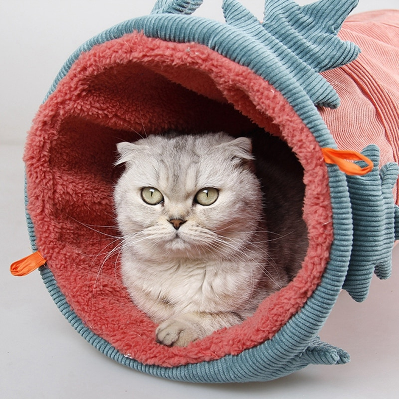 ¡Mascota gato túnel jugar tubos bolas plegable arruga gatito juguetes único cachorro Interior Exterior tubo Kitty invierno cálido casa nueva!