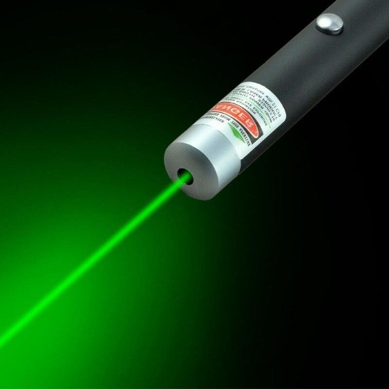 Puntero láser de 5MW de alta potencia verde Dot luz láser pluma potente láser medidor 530Nm verde láser
