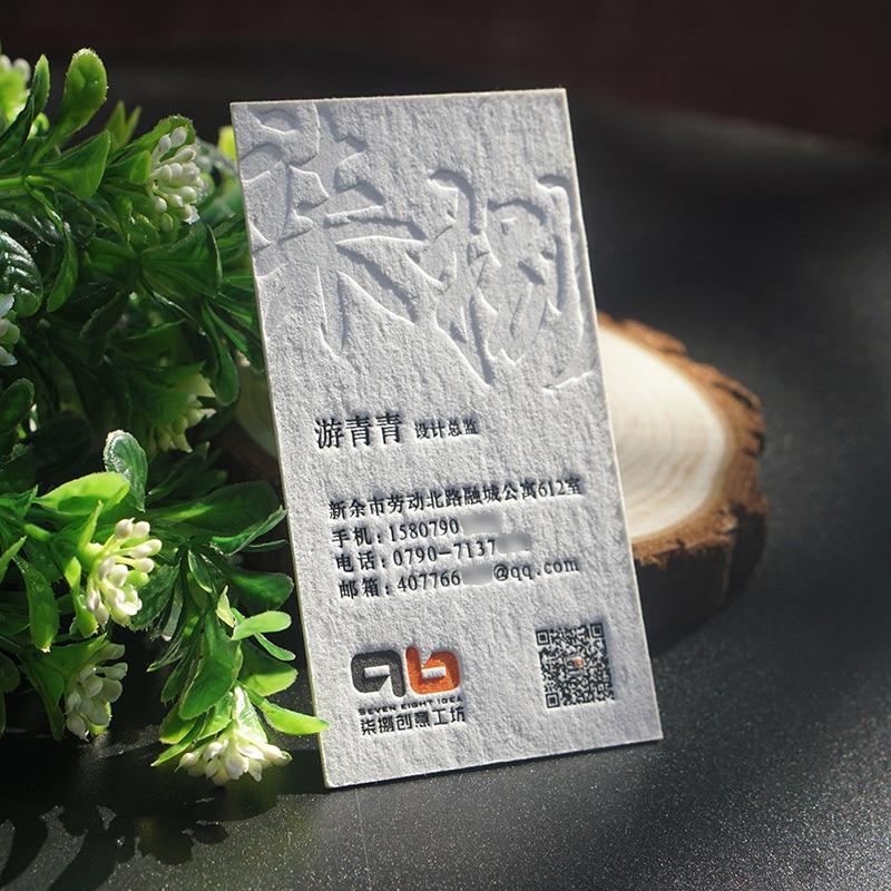 Хлопковая визитница papaer, кисть для визиток/графический дизайн, визитная карточка на заказ