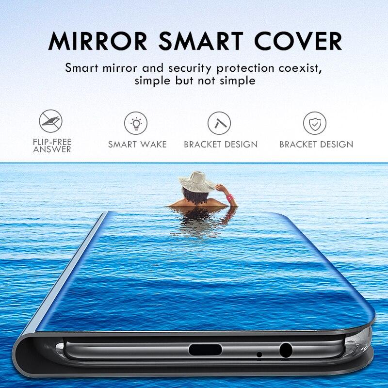 Smart Mirror Phone Case For Samsung Galaxy S10 S9 S8 Plus S10E A6 A8 A7 2018 Note 8 9 A10 A30 A40 A50 A60 A70 M10 M20 M30 Cover enlarge