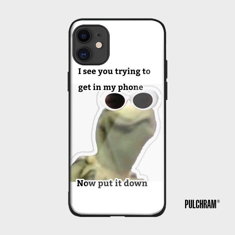 Funda Kermit divertida de silicona suave para teléfono móvil, carcasa para iPhone 6 6S 7 8 Plus X XR XS 11 Pro Max