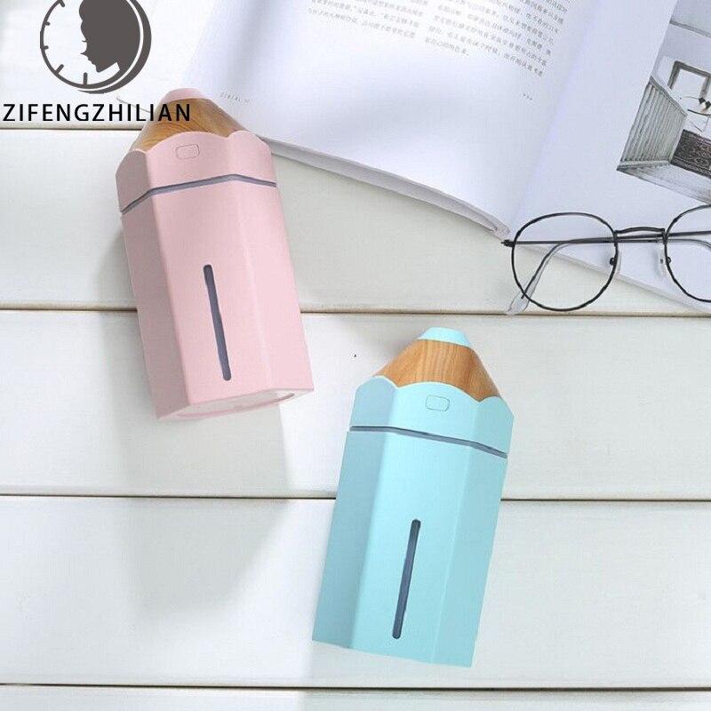 Mini lápiz humidificador difusor de aceite esencial 230ml lámpara de Aroma luz led mágica USB nebulizador ambientador de coche para niños