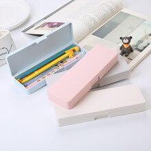 Porte-crayon givré haute capacité pochette à crayons nouveauté trousse mignonne porte-crayon créatif Kawaii étui à stylo sac coréen fournitures scolaires