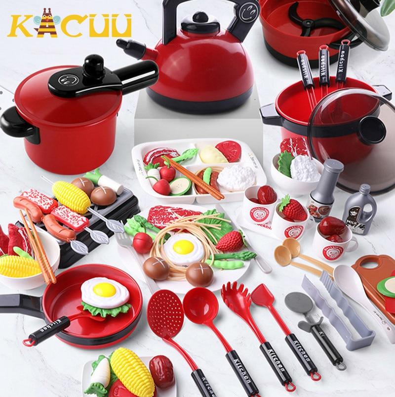 Детские Мини-кухонные игрушки, кухонная посуда, кастрюля, Детская форма, искусственная кухонная утварь, игрушки для детей, подарок