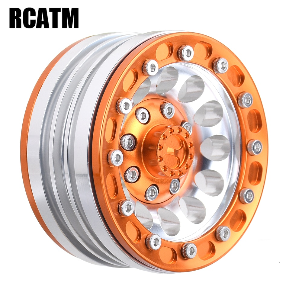 2pcs CNC Alloy 1.9inch Beadlock Wheel Rim For 1/10 RC Crawler Car Traxxas TRX4 TRX6 g63 D90 D110 Axial Scx10 90046 JIMNY VS4-10 enlarge