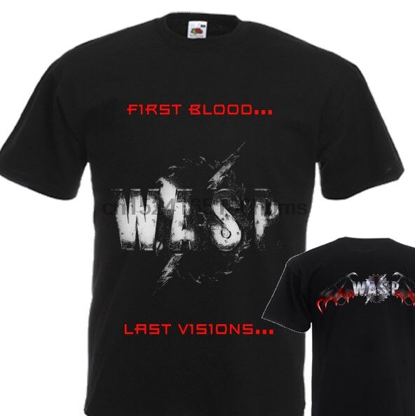 Nueva camiseta WASP primera sangre... última visión DTG impreso TEE-S-7XL