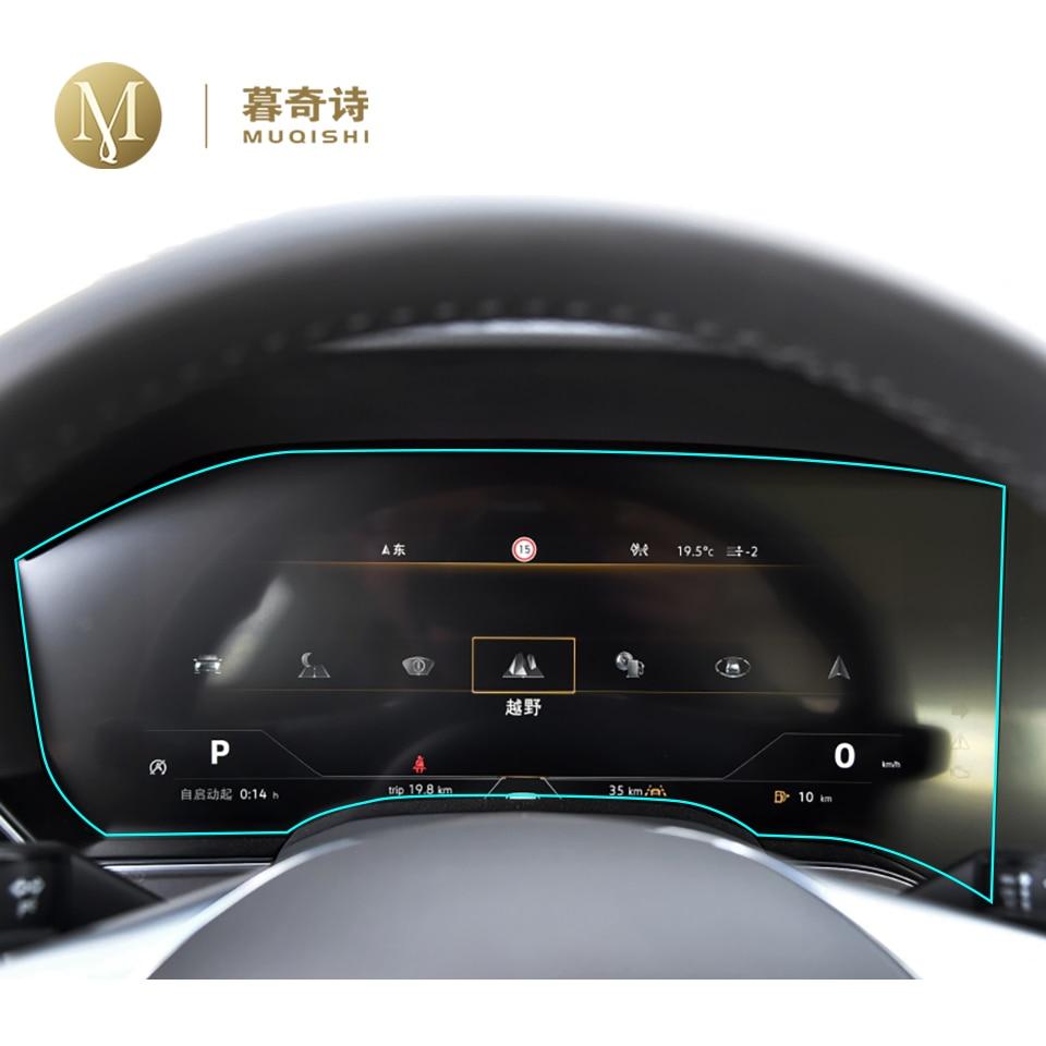 Para Volkswagen Touareg 2019 2020 panel de salpicadero película digital cabina protectora película de pantalla TPU cubierta pantalla LCD pantalla cubierta
