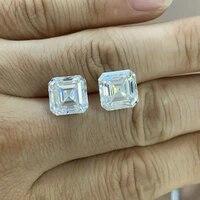 meisidian 1212mm asscher cut 8 carat d vvs loose moissanite diamond for ring
