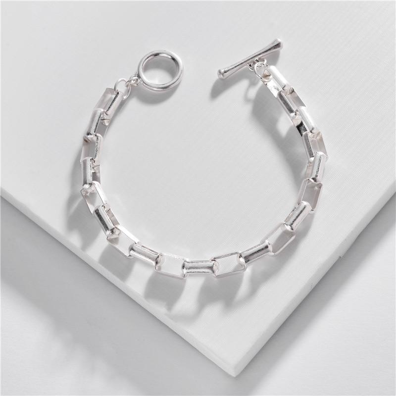 Joolim Jewelry Wholesale Gold & Silver Color Chic Link Bracelet Charm Bracelet