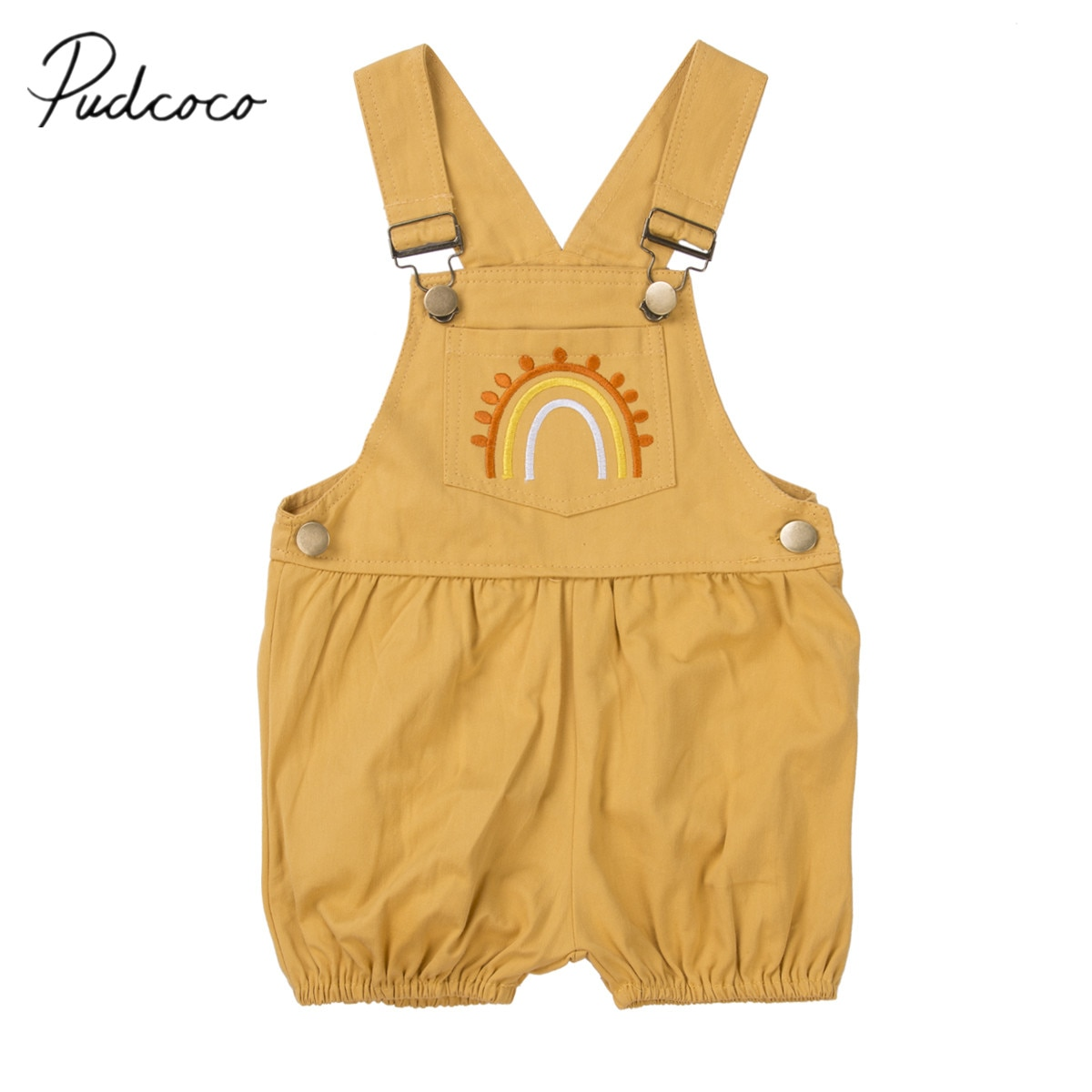 2020 ropa de verano para bebé lindo para niño, Chico, niña, ropa bordada, mono de arcoíris, mono, babero, conjunto, 6 M-4 T