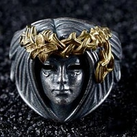 secret boy vintage trendy rock punk hip hop creative goddess shape skull ring for men women luxury rings jewelry accessories