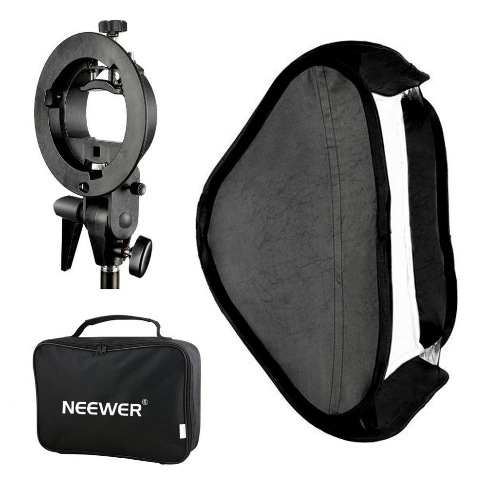Neewer Godox-سوفت بوكس متعدد الوظائف لاستوديو الصور ، مع حامل فلاش Speedlite من النوع S وحقيبة حمل