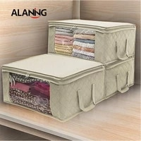 large capacity storage bag non woven fabric packaging bags clothes quilt organizer kitchen cabinet storage and organization home