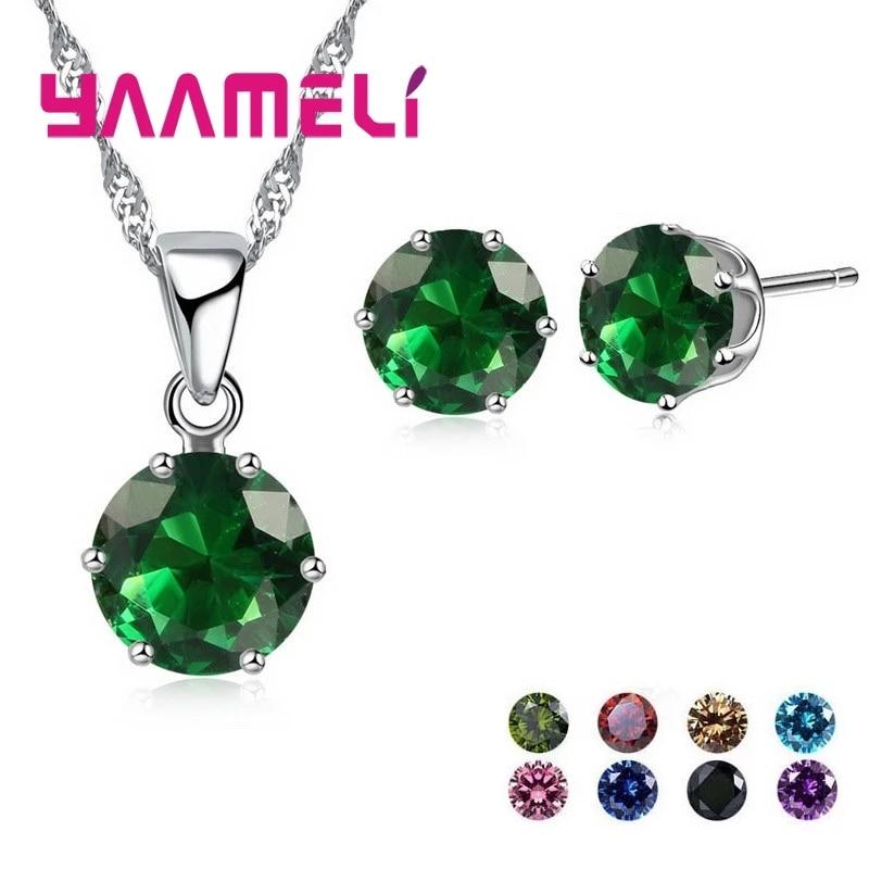 Распродажа-925-стерлингового-серебра-Ювелирные-наборы-для-невест-свадеб-для-женщин-обручальные-кольца-с-украшением-в-виде-кристаллов-куло