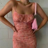 summer fashion street style hottie sexy stiletto body sling dress girl sexy folds