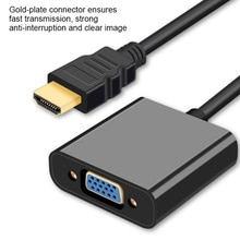HDMI-compatible Male to VGA Female Video Cable Cord Converter Adapter with Audio for PC DVD HDTV 108
