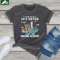 i used to be a gun owner until the boating accident vintage t shirt women clothing harajuku boating t shirt mens tops girls tees