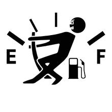 Funny Fuel Gauge Car Vehicle Oil Tank Cover Body Window Decals Sticker Decor Auto Exterior Stickers