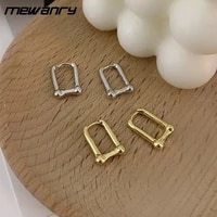 mewanry prevent allergy 925 sterling silver party earrings for women new fashion creative thick chain geometric ear jewelry gift