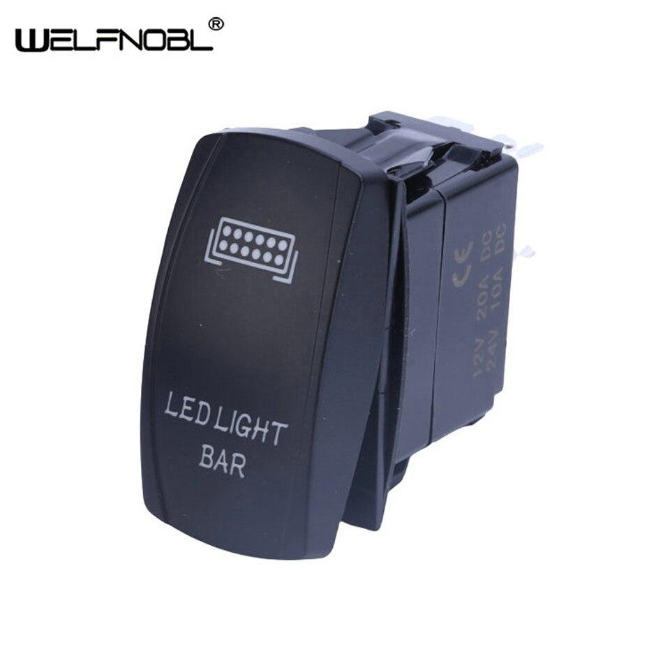 Impermeable, interruptor basculante de 12V 24V para doble LED, rojo, azul, verde, amarillo, interruptor basculante para la luz, botón para coche, barco, caravana Marina 4x4