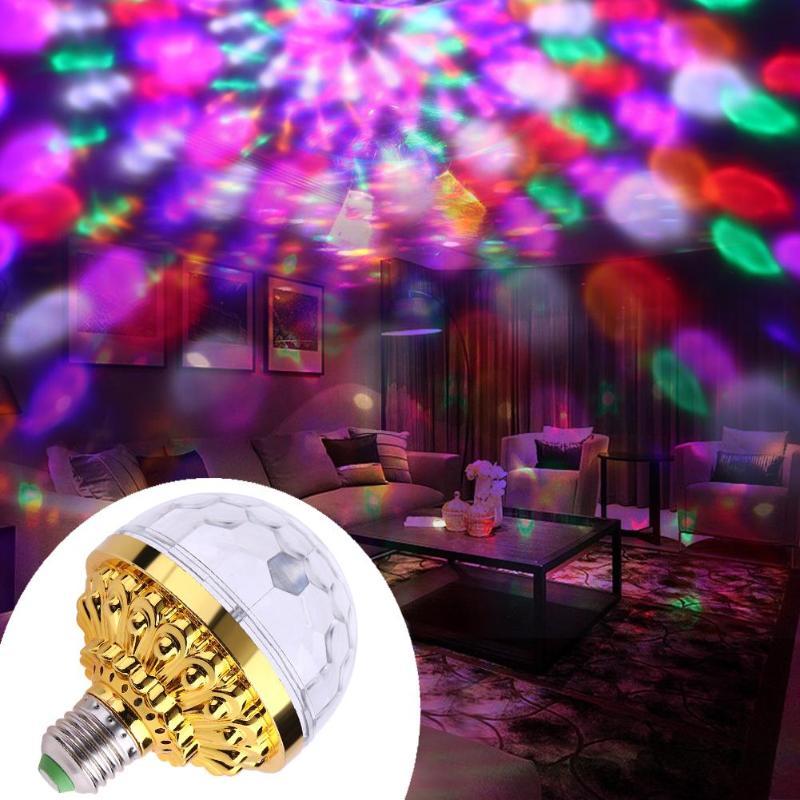6W bola mágica de cristal Led lámpara de escenario Disco luz láser fiesta luces Lumiere láser Led RGB Mini Luz de escenario E27 AC 85-265V