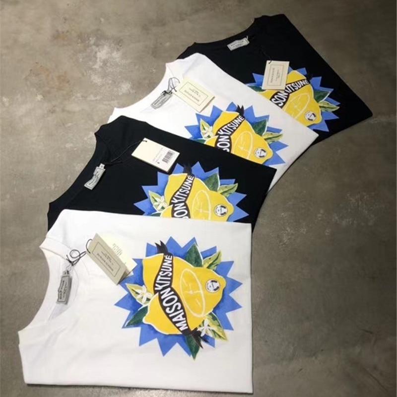 Best Quality Maison KITSUNE Tees Men Women Oversized poster Printed 100% Cotton Maison KITSUNE T Shirts Men
