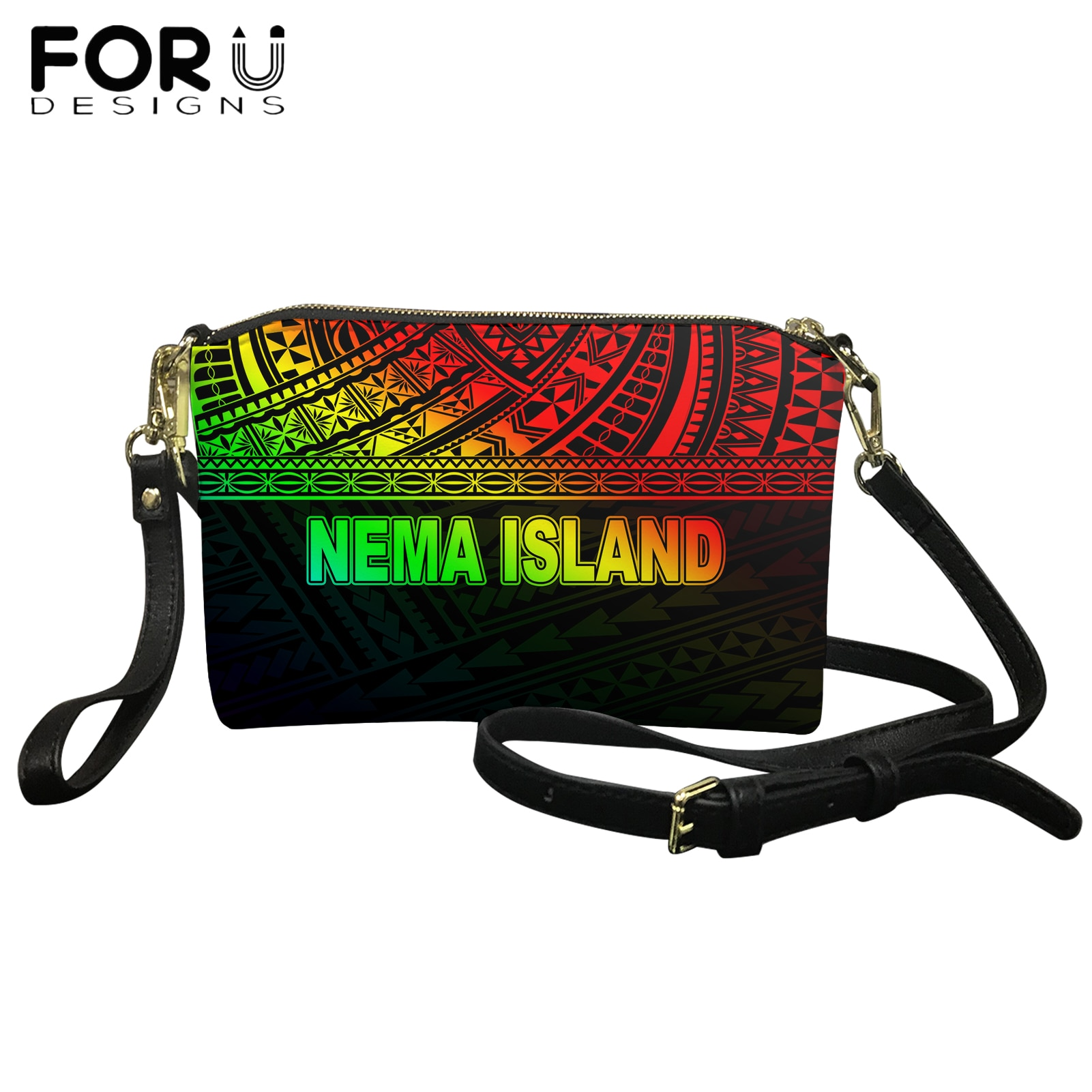 موضة جديدة التدرج اللون نيما جزيرة بولينيزية القبلية تصميم فاخر نساء حقائب كتف حقائب أنثى كيس حقيبة ساعي الرئيسي