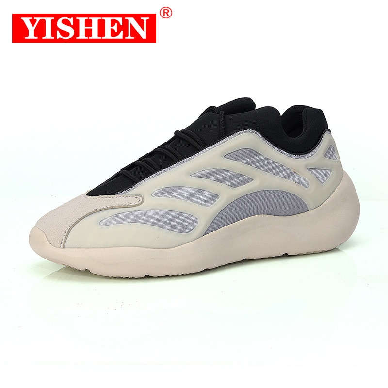 YISHEN Men Casual Shoes Breathable Couple Outdoor Sneakers Chunky Dad Shoes Luminous Running Shoes Z