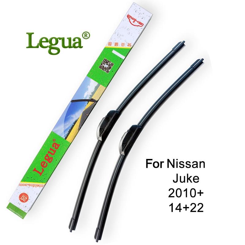 "Limpiaparabrisas de coche Legua para Nissan Juke, 2010 +, 14 ""+ 22"", limpiaparabrisas de goma para coche, limpiaparabrisas sin marco"