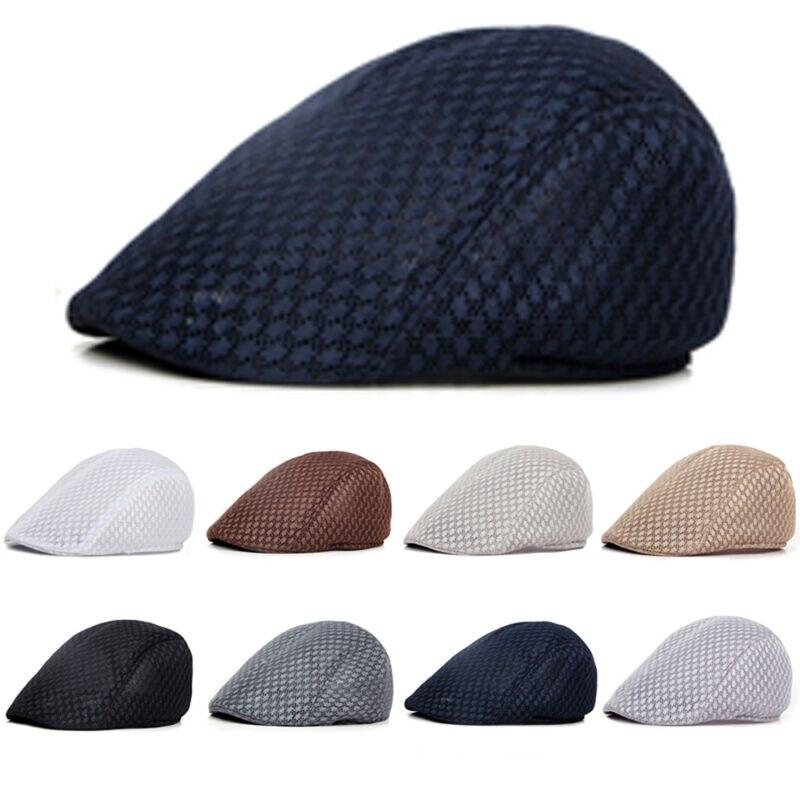 Mens Casual Zeitungsjunge Ivy Gatsby Cap Fahren Scheuklappen Entenschnabel Hut Vintage Caps
