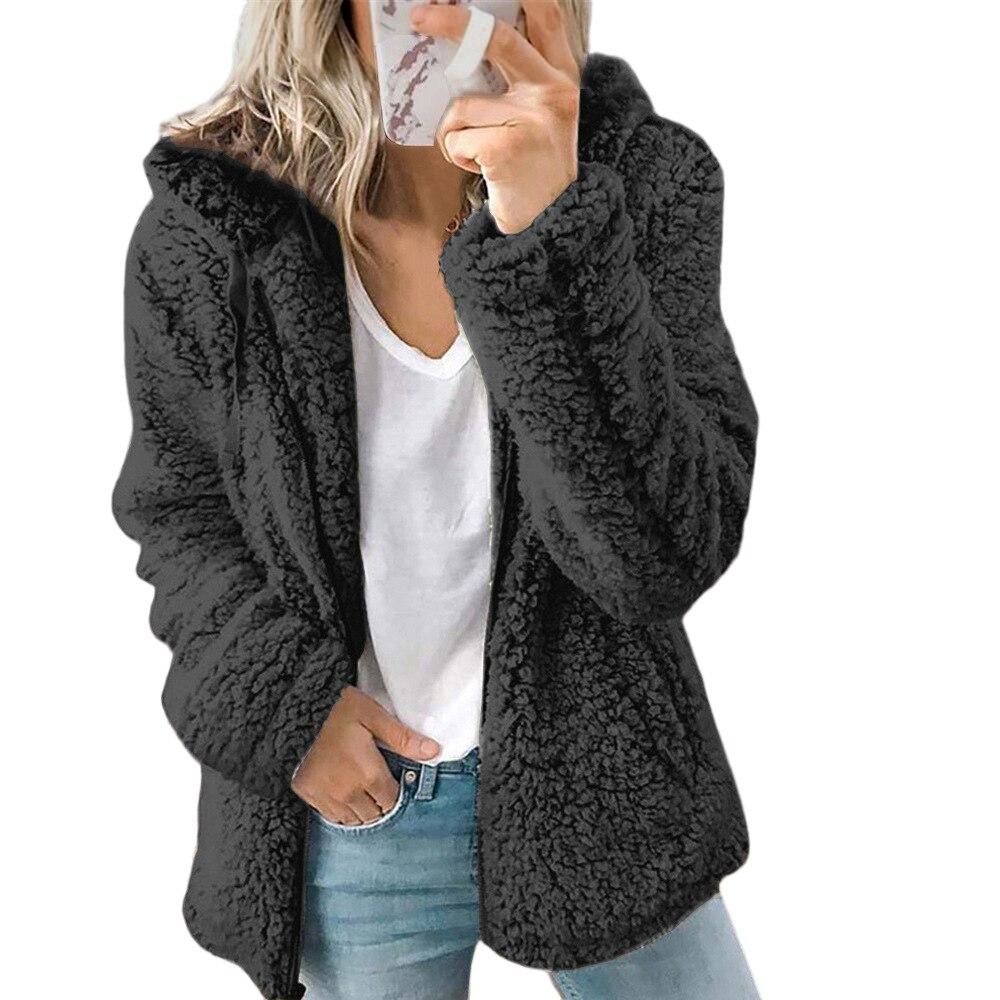 big size s 3xl baseball jacket women coat for girl spring autumn lady clothing jacket women basic coats long sleeve slim jacket Women Winter Coat 2020 Women's Clothing Hooded Zipper Slim Casual Coats for Women Long Sleeve Ladies Jacket Fashion Coats