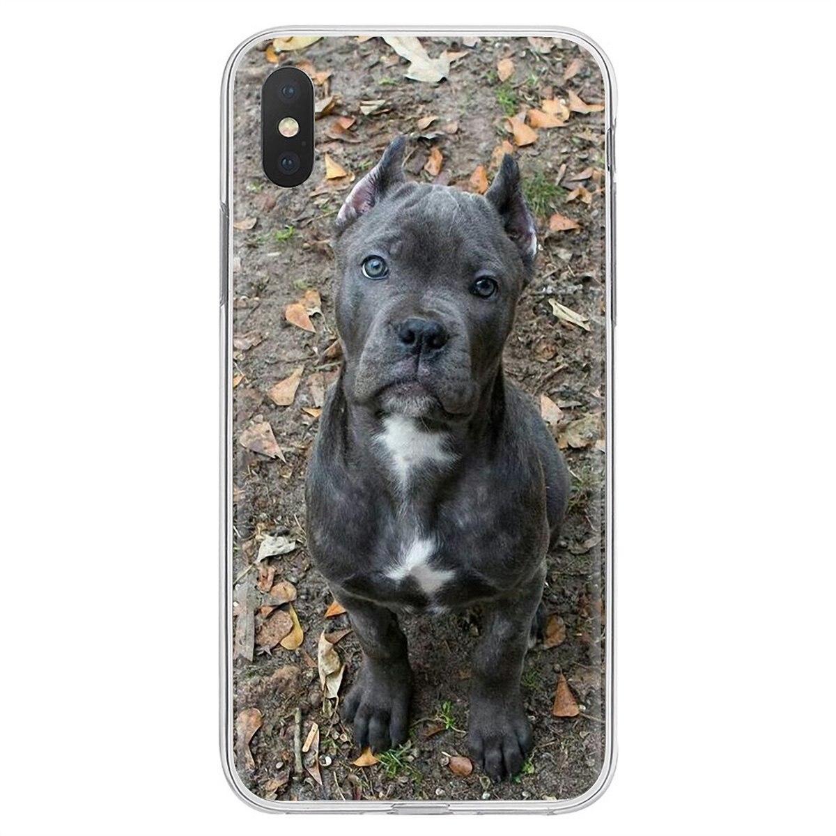 Funda suave para iPhone 11 Pro 4 4S 5 5S SE 5C 6 6S 7 8 X XR XS Plus Max para iPod Touch perros italianos caña Corso italiano mastiff