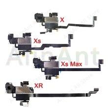 Original Ear Earpiece Flex For iPhone X Xs Max XR Proximity Light Sensor Sound Earphone Speaker Flex