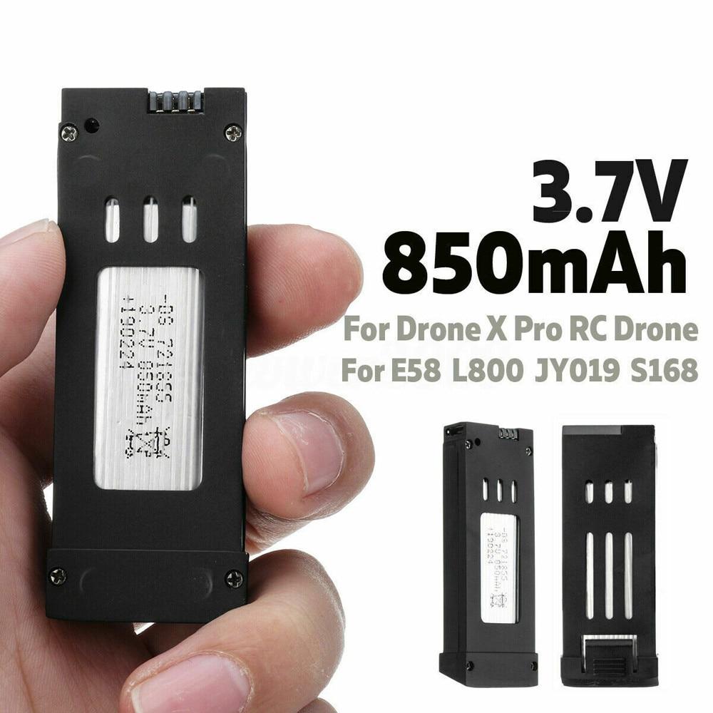 3.7v 850mah para zangão x pro/e58/l800/jy019/s168 rc quadcopter zangão bateria recarregável de alta qualidade lipo