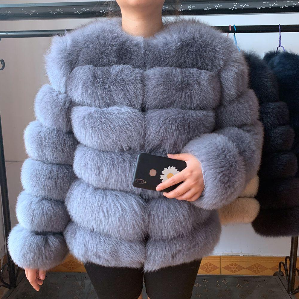 Natural Real Fox Fur Vest Natural Fur Coat For Jacket female coats Vest Waistcoat long Fur Coats Real Fur Coat Fox Vest J