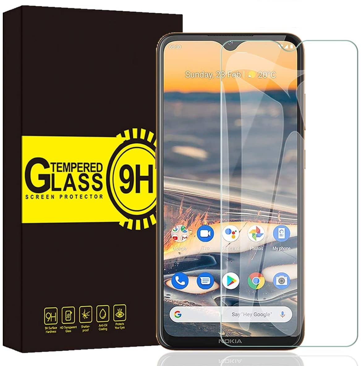 For Nokia 5.3 Tempered Glass 9H Safety Front Screen Protector For Nokia 5.3  Screen Protective Case