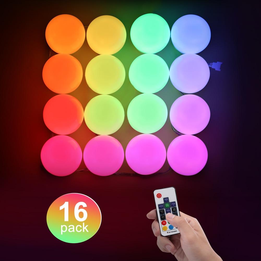 LED RGB لمبات حلم ضوء اللون مع البعيد قوس قزح مطاردة تغيير أضواء الإضاءة الزخرفية لحزب عيد ميلاد المهرجانات