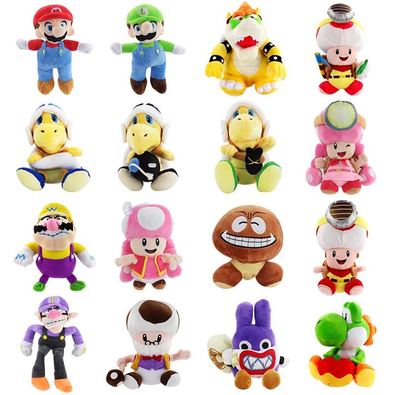 15-28cm Luma Brothers Yoshi Koopa Wario Wa Goomba Toadette Thief Rabbit Hot Gifts Children Luigi Plush Doll Toys